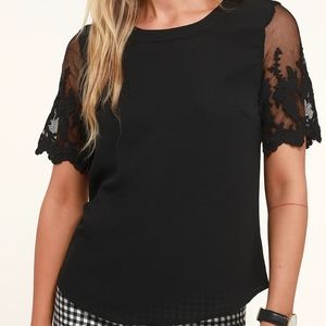 Lisa Marie Black Embroidered Top